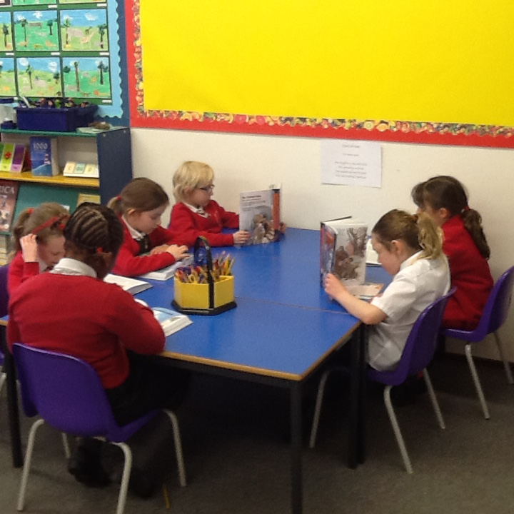 Foxes class reading their new bibles