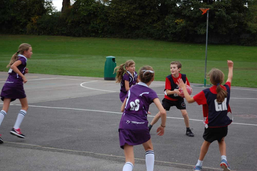 Netball match v William Cobbett