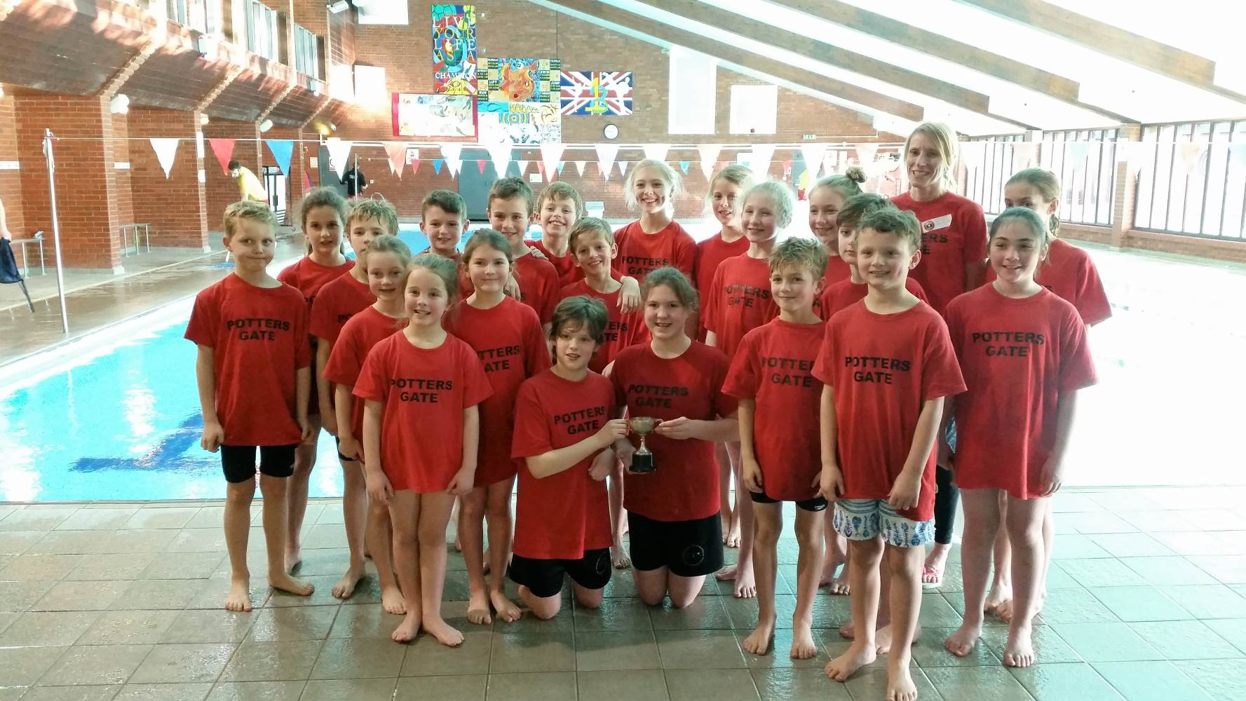 Swimming gala team