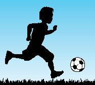 Child with football